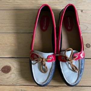 Red/White/Blue Sperries